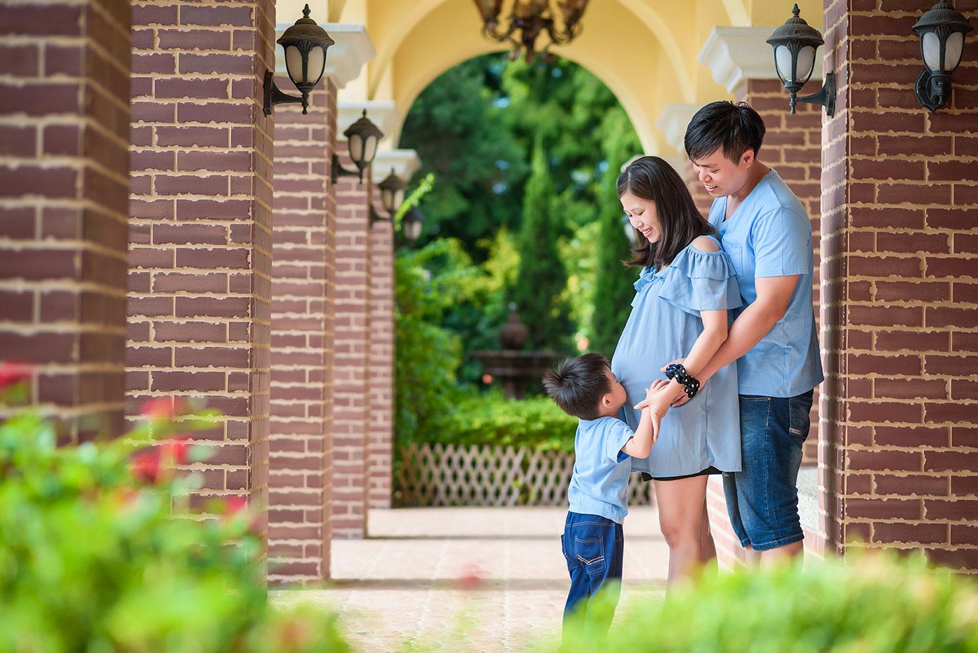 孕婦親子寫真 親子攝影 兒童寫真 探索迷宮 孕婦親子寫真 中部親子攝影