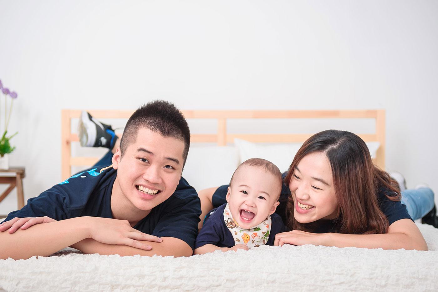 寶寶寫真 寶寶棚拍 親子寫真 一家人溫馨合照