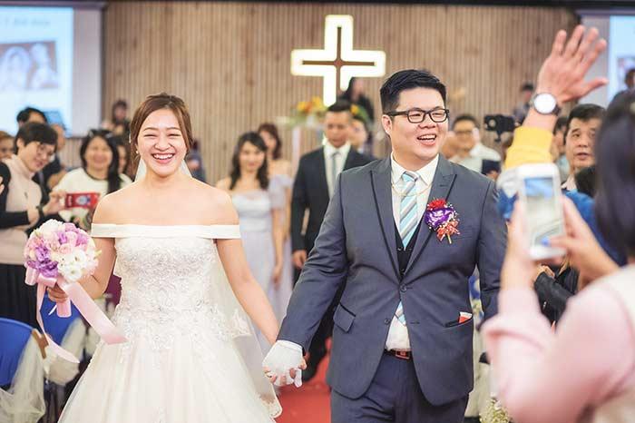 溫馨感人的教堂儀式、迎娶儀式的拜別父母很感人