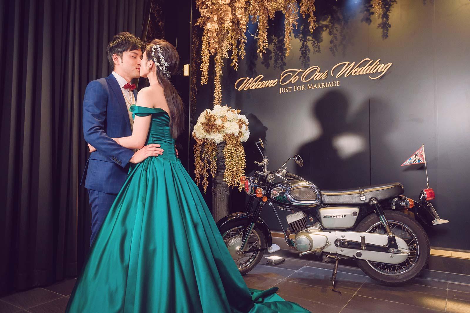 浪漫的一吻、擁抱影子、中部婚攝推薦
